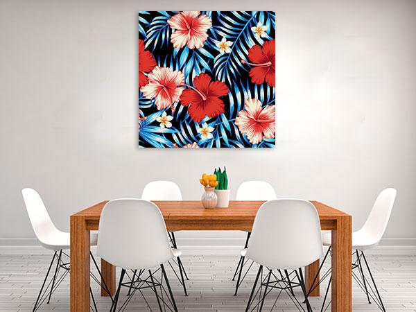 Hibiscus Flowers Wall Art