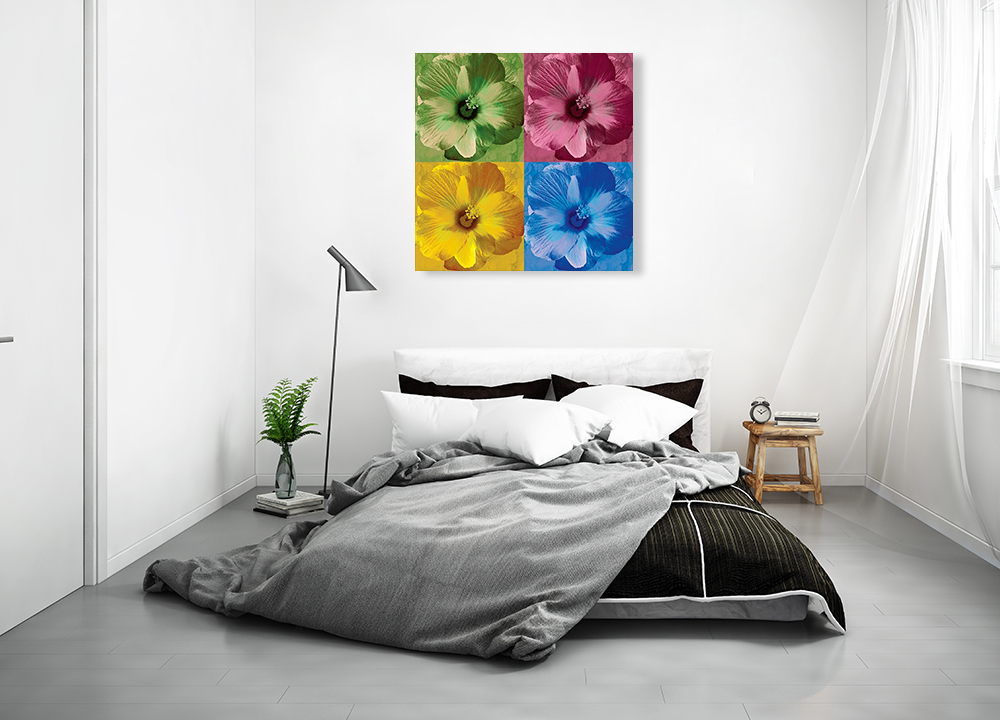 Floral Popart Wall Print on Canvas