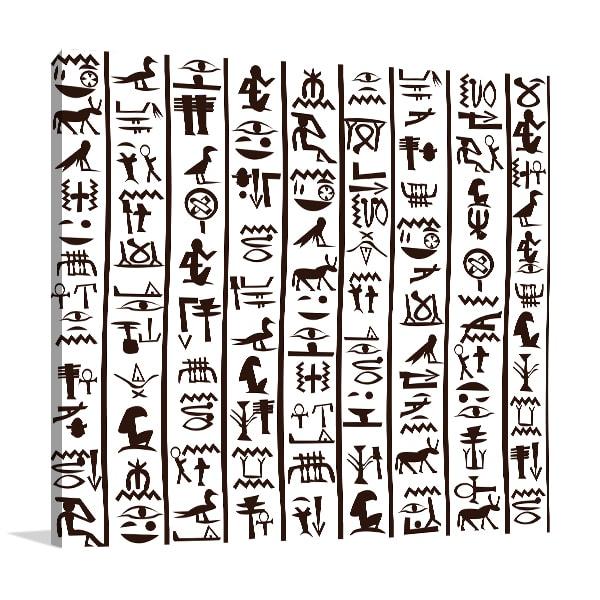Hieroglyphics Canvas Prints