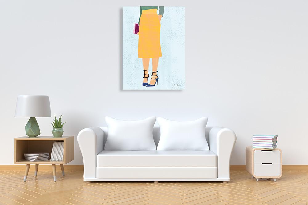 Yellow Portrait Art on Canvas