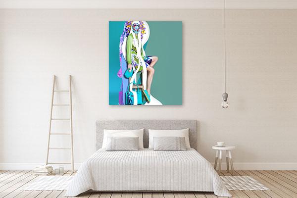 High Fashion Portrait Art Print Wall Art