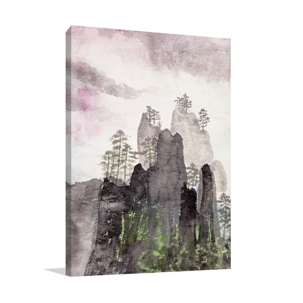 Highlands And Fog Canvas Art Prints