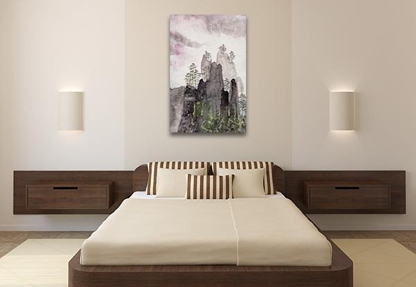 Highlands And Fog Prints Canvas