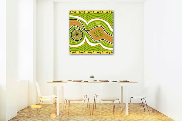 Hills and River Prints Canvas