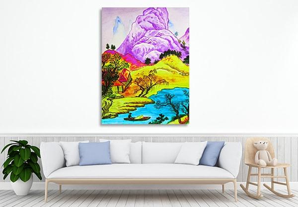Hills River Prints Canvas