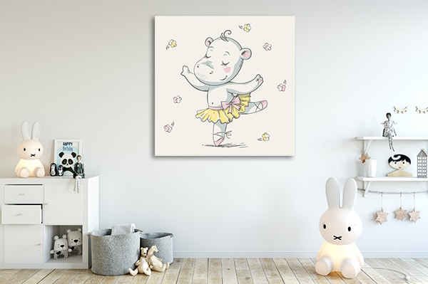 Hippo Ballerina Artwork