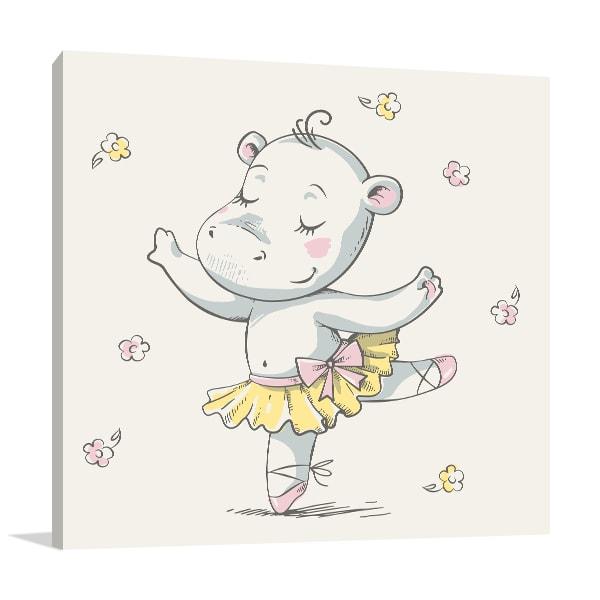 Hippo Ballerina Art Prints
