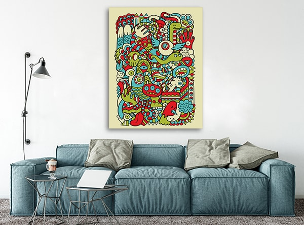 Hipster Doodle Wall Art