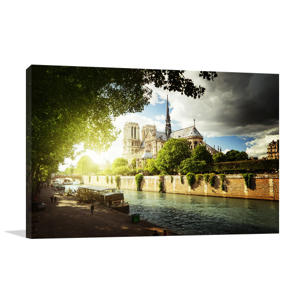 Historical Notre Dame de Paris Cathedral Prints Canvas