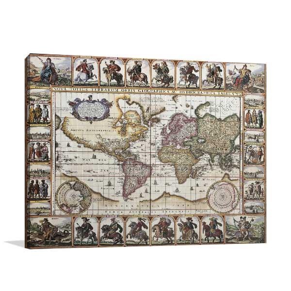 History World Map Canvas Art Prints