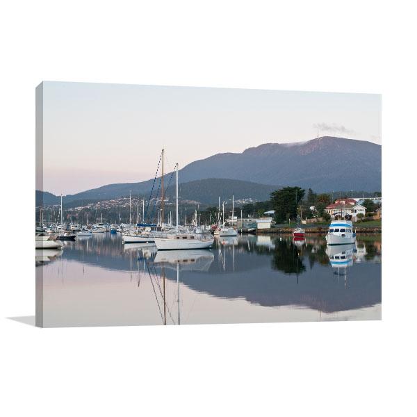 Hobart Art Print Boats & Reflections