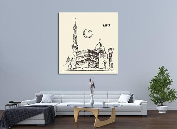 Holy Kaaba Wall Art on the Wall