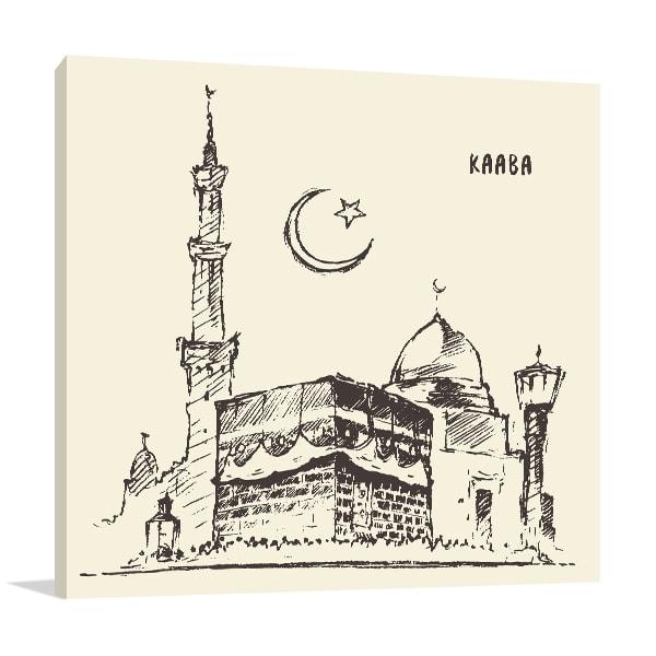 Holy Kaaba Wall Canvas
