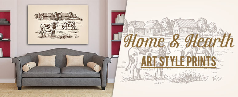 Home & Hearth Wall Art Print For Sale