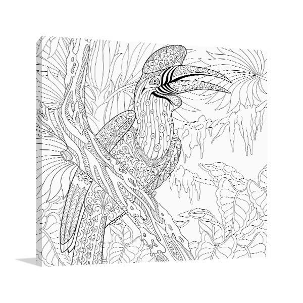 Hornbill Bird Wall Art