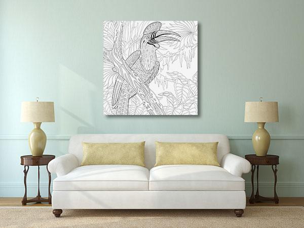 Hornbill Bird Artwork