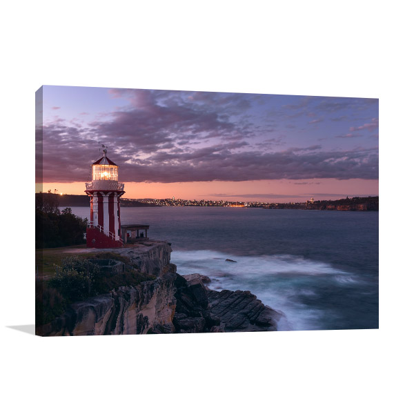 Hornby Lighthouse Art Print Watsons Bay Canvas Artwork