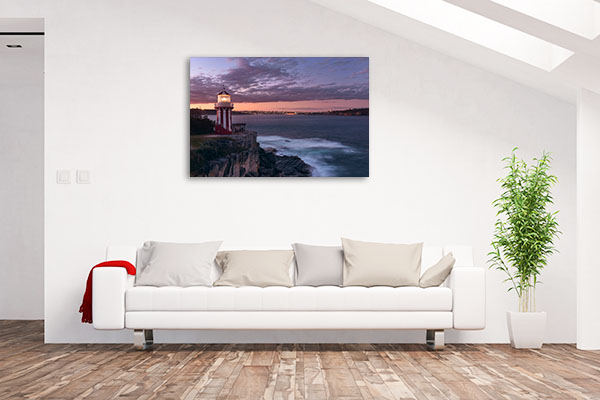 Hornby Lighthouse Art Print Watsons Bay Wall Canvas