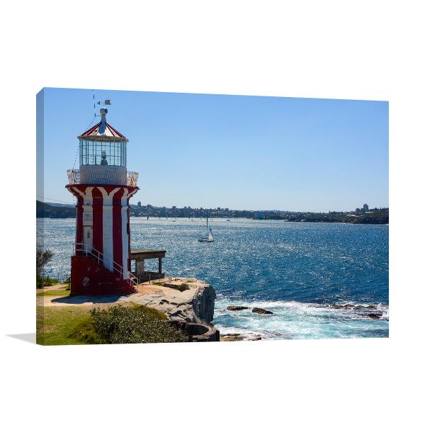 Hornby Lighthouse Canvas Print Sunny Day Wall Photo