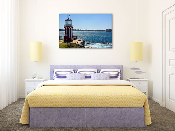 Hornby Lighthouse Canvas Print Sunny Day Wall Picture