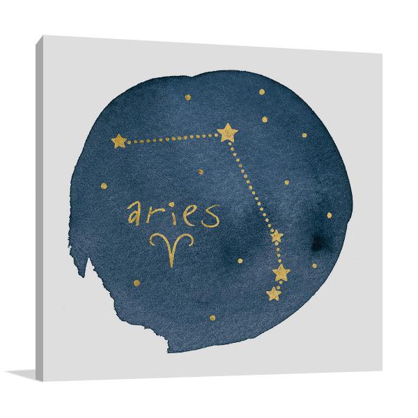 Horoscope Aries Canvas Wall Art