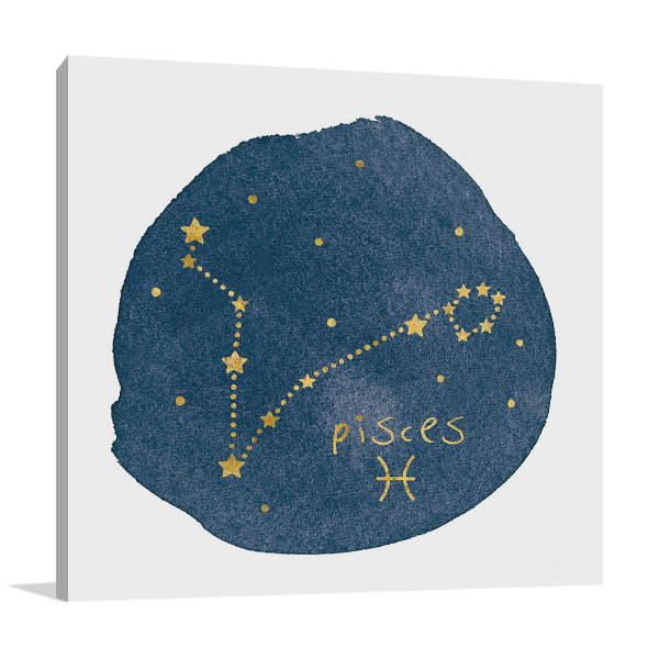 Horoscope Pisces Canvas Art Print