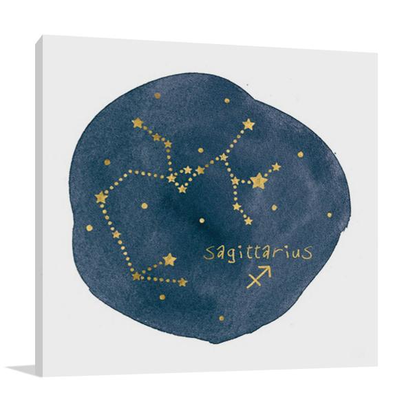 Horoscope Sagittarius Wall Print