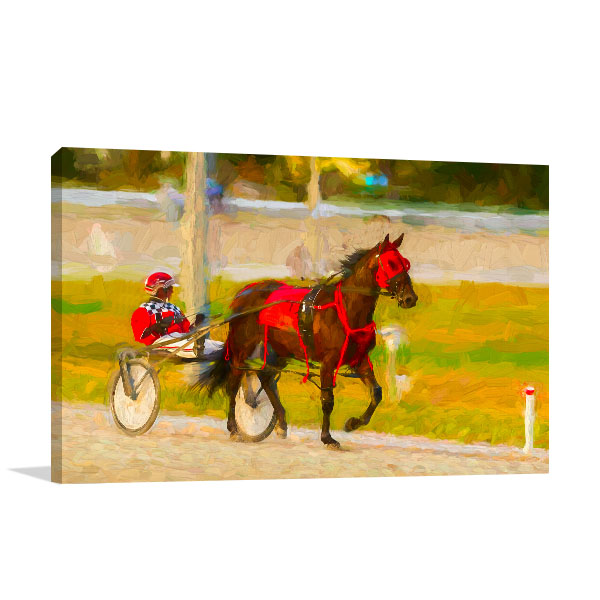 Horse and Jockey Canvas Art