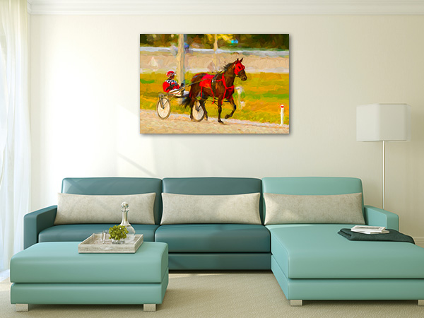 Horse and Jockey Canvas Art Prints