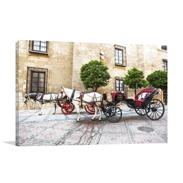 Horse Carriage Canvas Art