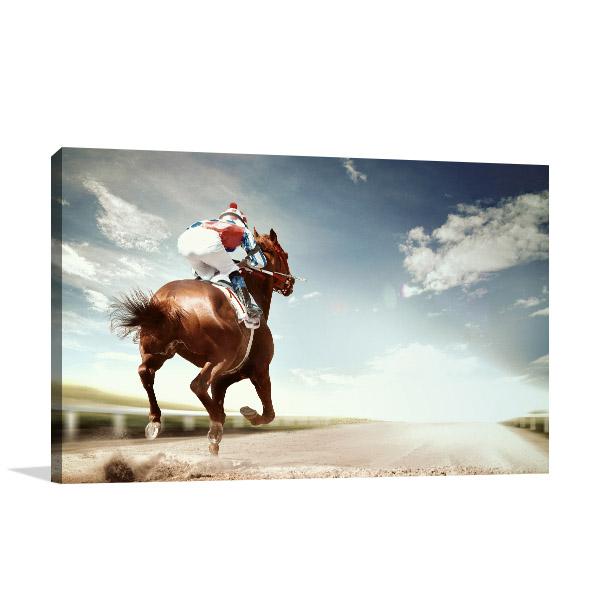Horse Racing Vintage Wall Art
