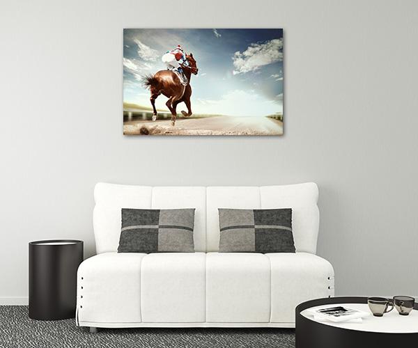 Horse Racing Vintage Canvas Prints