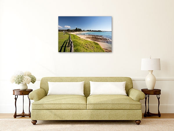 Horseshoe Bay Canvas Print Bermagui Beach Picture Wall