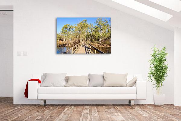 Horseshoe Lagoon Wetland Canvas Print Moama NSW Wall Art