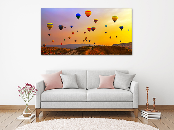 Hot Air Balloons Art Print on the wall