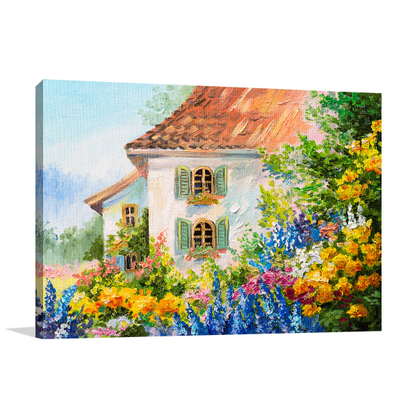 House In Flower Garden Art Prints