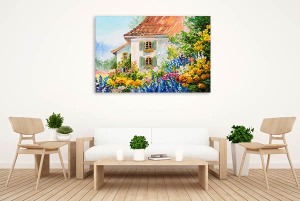 House In Flower Garden Wall Art