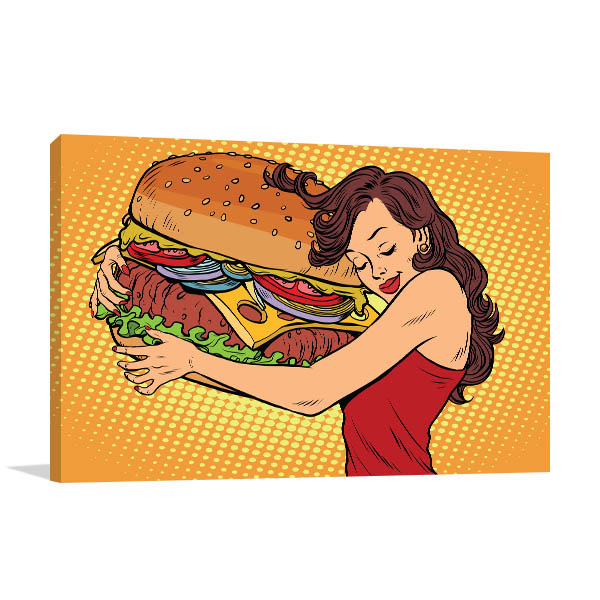 Hug a Burger Prints Canvas