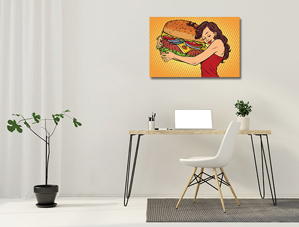 Hug a Burger Art Prints
