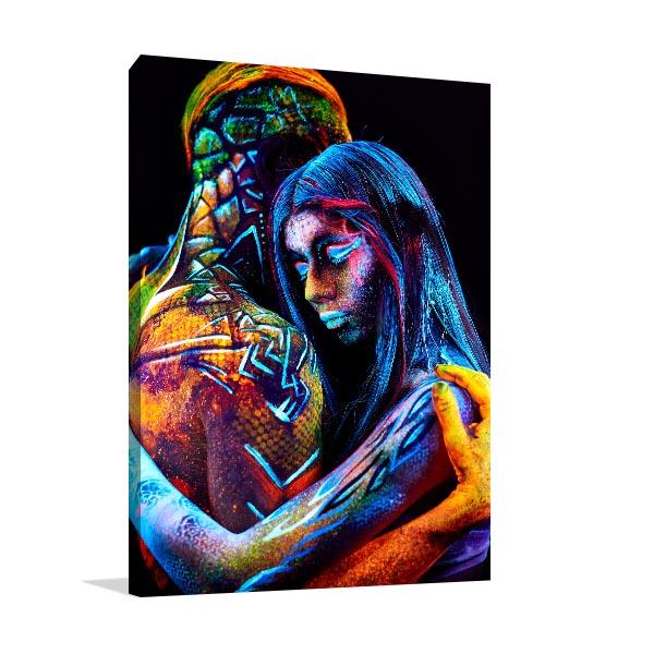 Hugging Couples Prints Canvas