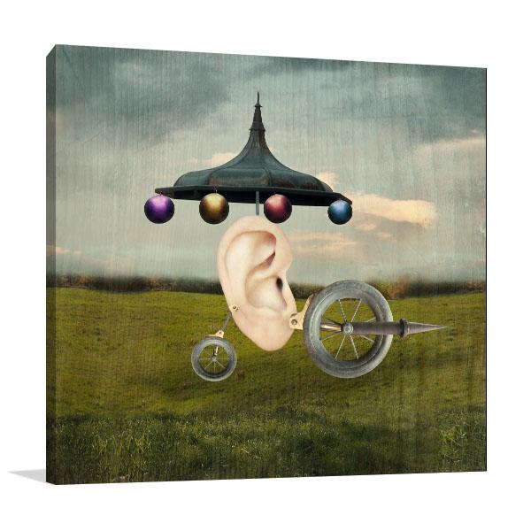 Human Ear Canvas Prints