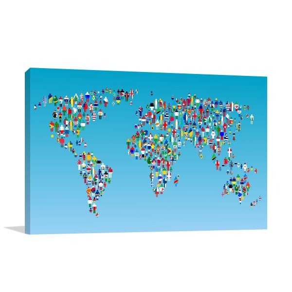 Human Globalization Wall Art