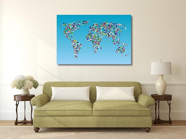 Human Globalization Prints Canvas