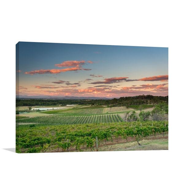 Hunter Valley Art Print Beautiful Sunset