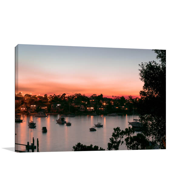 Hunters Hill Art Print Bay at Sunset