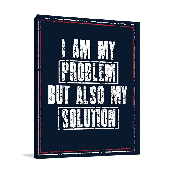 I Am The Solution Print on Canvas