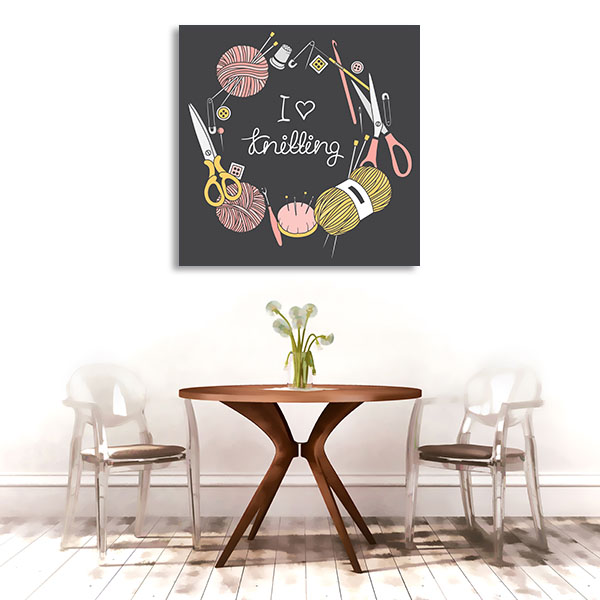 I Love Knitting Canvas Art Prints