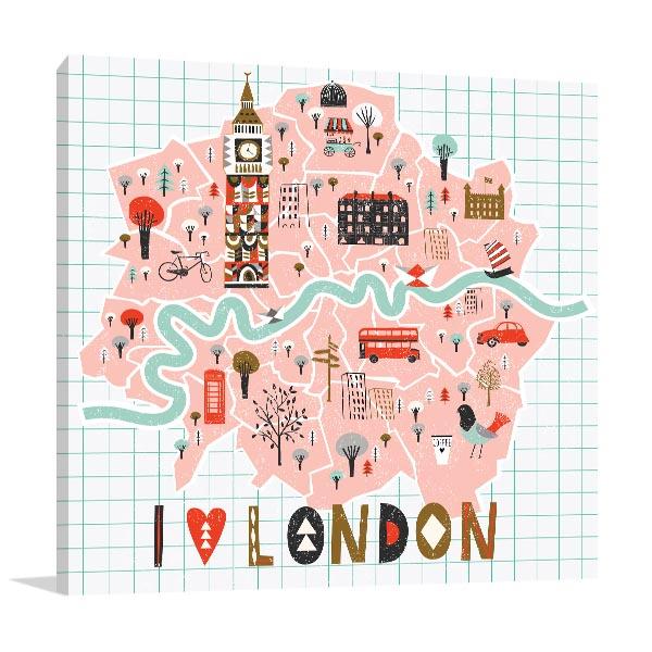 I Love London Artwork