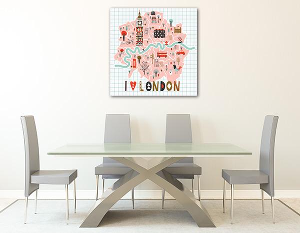 I Love London Canvas Prints