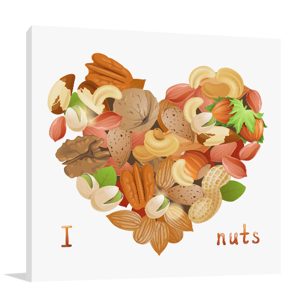 I Love Nuts Canvas Art